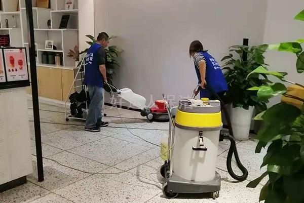 地面清洗现场